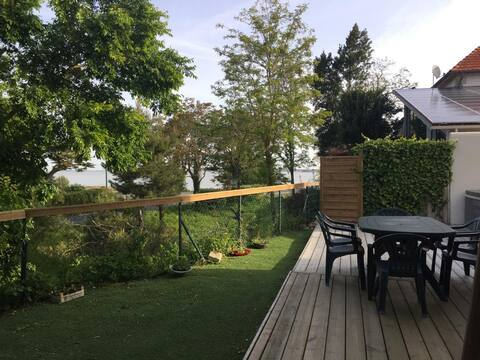 Maison face mer, trois chambres, jardin