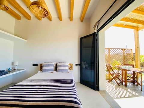 Habitación Amorgos  Casa Lajares con Desayuno. B&B