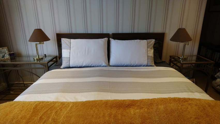 Get a great night's sleep in hotel quality bedding.