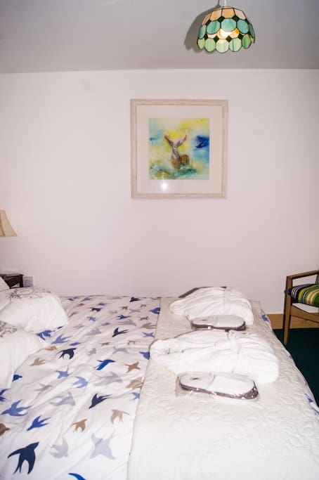 King size bed bedroom 2 - Robes and slippers included as standard