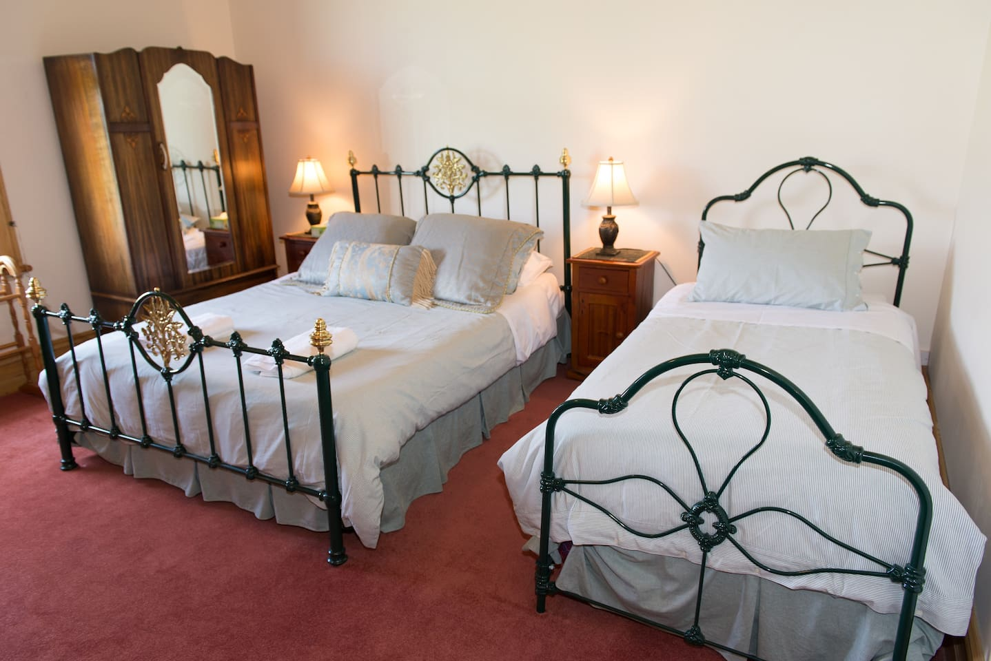 The Victorian room is ideal for 1-3 people.