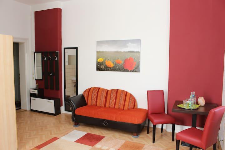 Geräumiges Zimmer in nostalgischer Jugendstilvilla