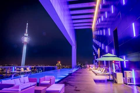 PERFECT 2BR+2BTH SUITES-KL CITY 吉隆坡网红民宿2房2浴套房#45