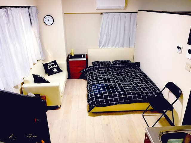 All pivate big room close to Ueno Station and Park
