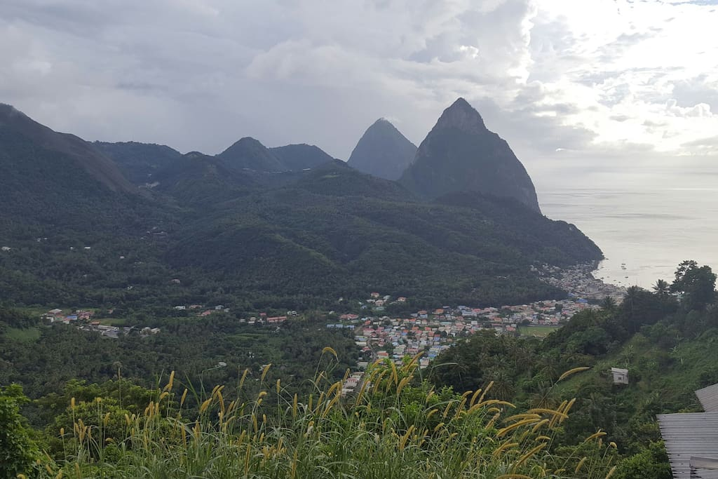 Nearby view point overlooking town of Soufriere.