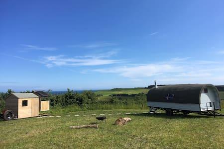 Gypsy Wagon on the beautiful Devon coast.