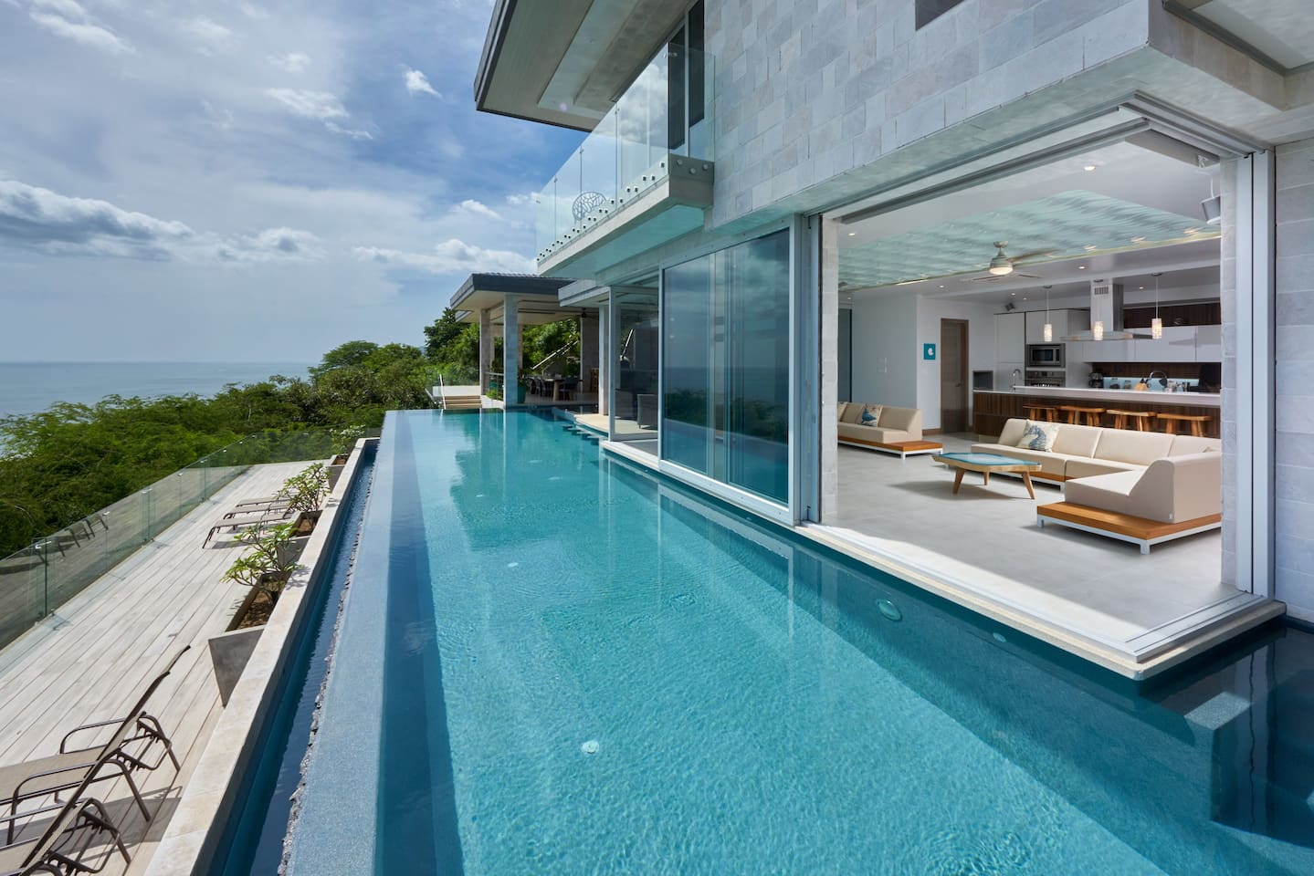 Huge pool and deck