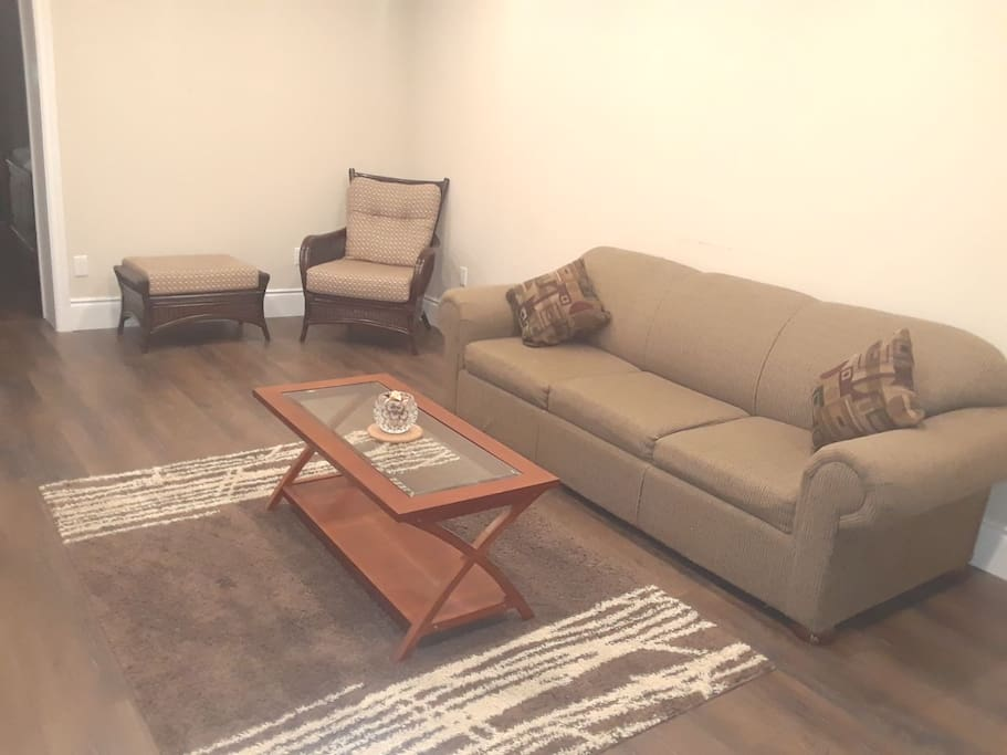 Living room with Queen size Sofa bed