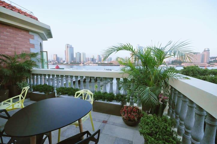 鼓浪屿岛上·海景露台两室套房-结伴出游-亲子家庭独享大露台 - Xiamen - Villa