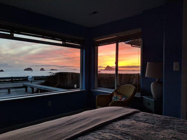 Watch amazing sunsets!