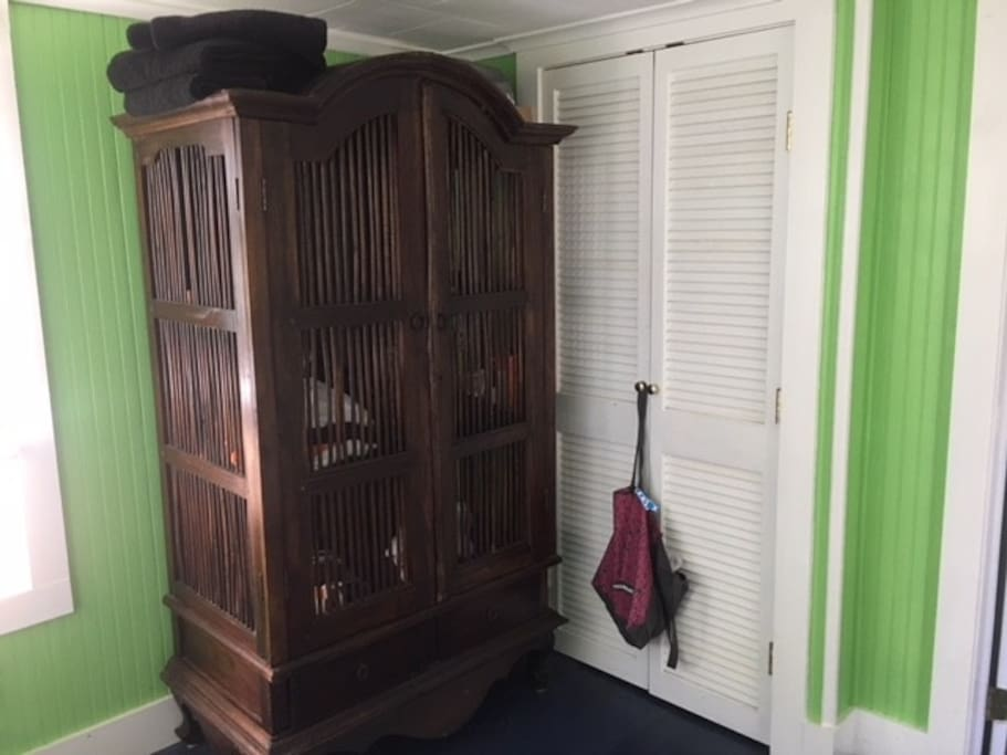 Lots of closet and storage space. The closet is walk in.