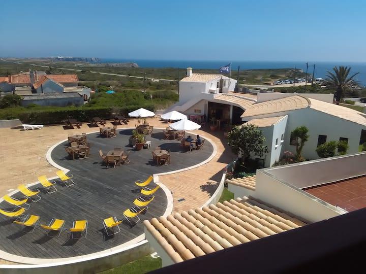Casa do Beliche - frente praia, grande terraço