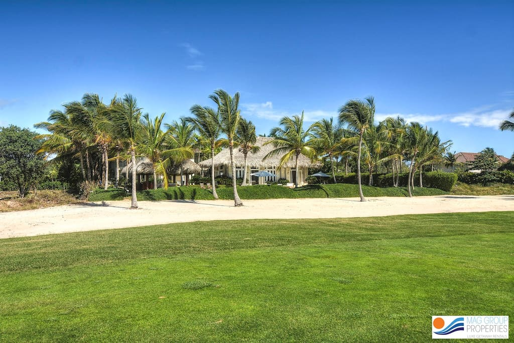 Magestic view of the house from golf course