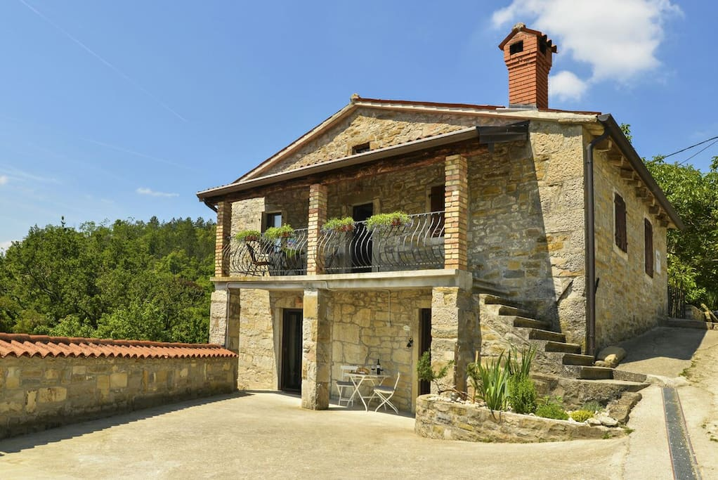 Istrian Stone House with garden of aromatic herbs