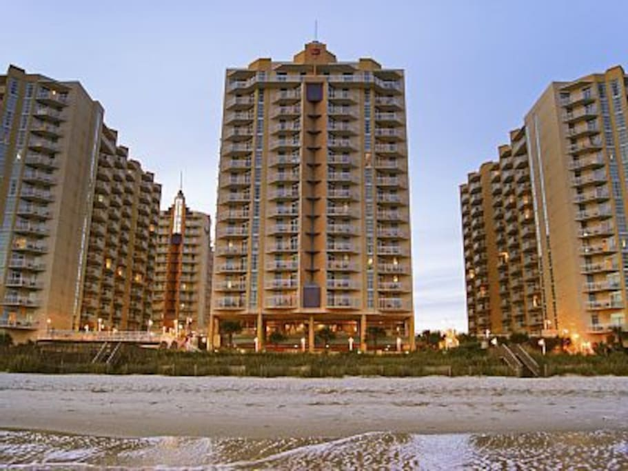2 Bedroom Ocean Front Condo At Myrtle Beach Condominiums For Rent In Myrtle Beach South