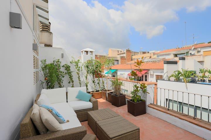 Modern penthouse private terrace