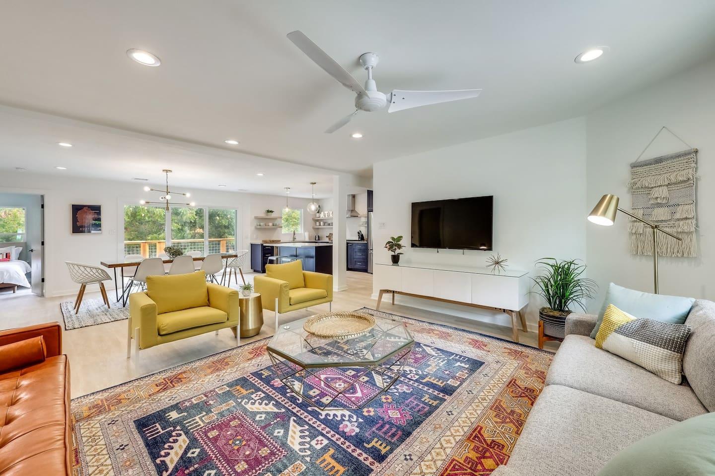 Beautifully designed open floorplan
