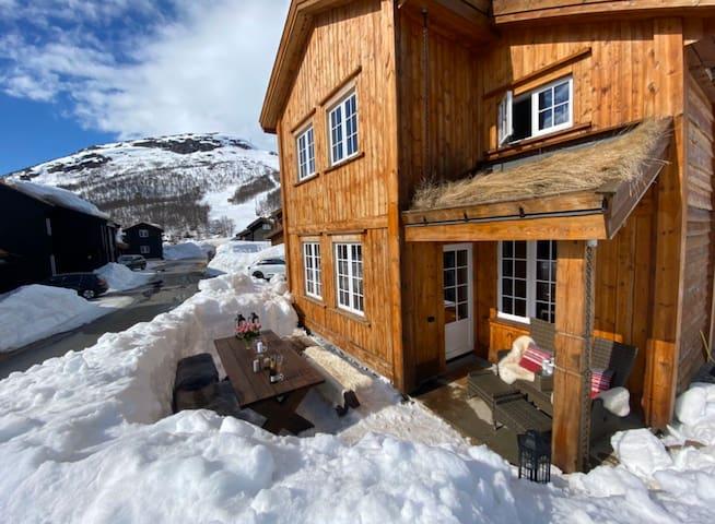 Stor hytte på Hovden ski inn/ski out, med badstue