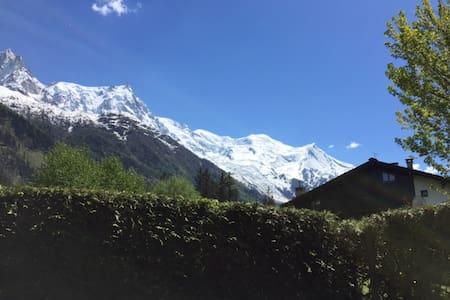 Studio au calme avec jardin et vue Mont-Blanc
