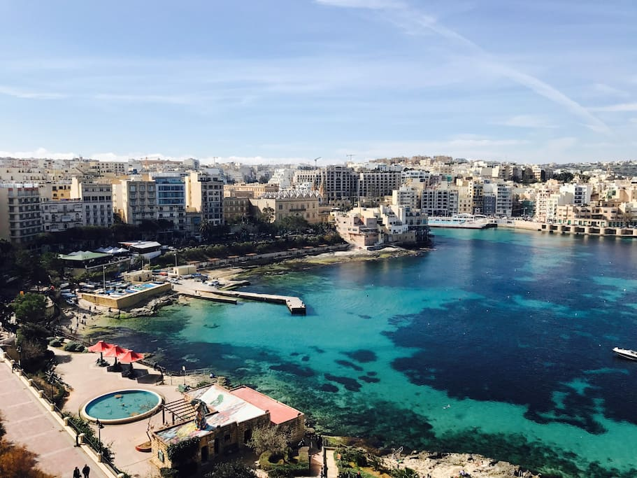 Sliema seafront offer everything just few steps away from the apartment, beach, restaurants, bars, bus stop, park with swings.