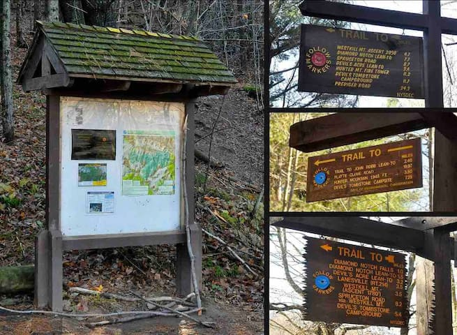 So many great hiking trail heads within a short drive.