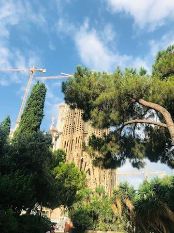 Habitación doble/Sagrada Familia-Barcelona