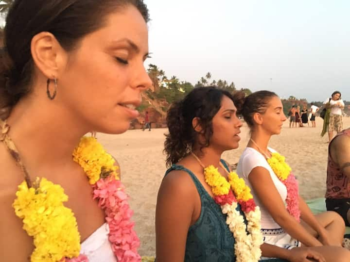 Sunset beach  guided meditation session
