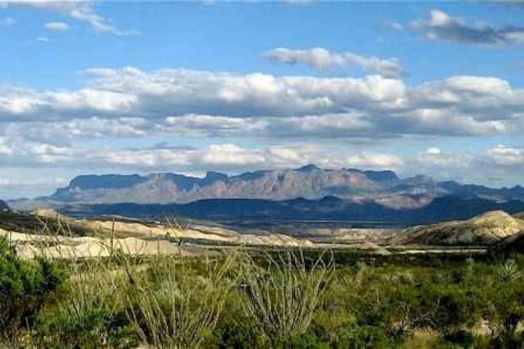 Panoramic view of the Big Bend region