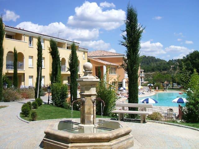 Studio climatisé 4* piscine Gréoux les Bains - Gréoux-les-Bains - Appartement