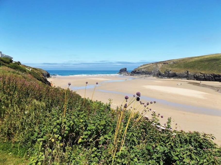 Porthcothan Beach (5 min walk from house)