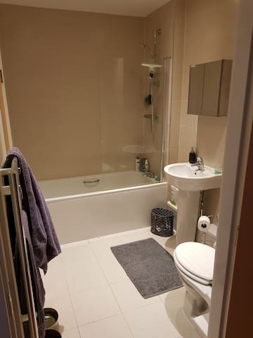 Private Bathroom with Full Tub and Shower
