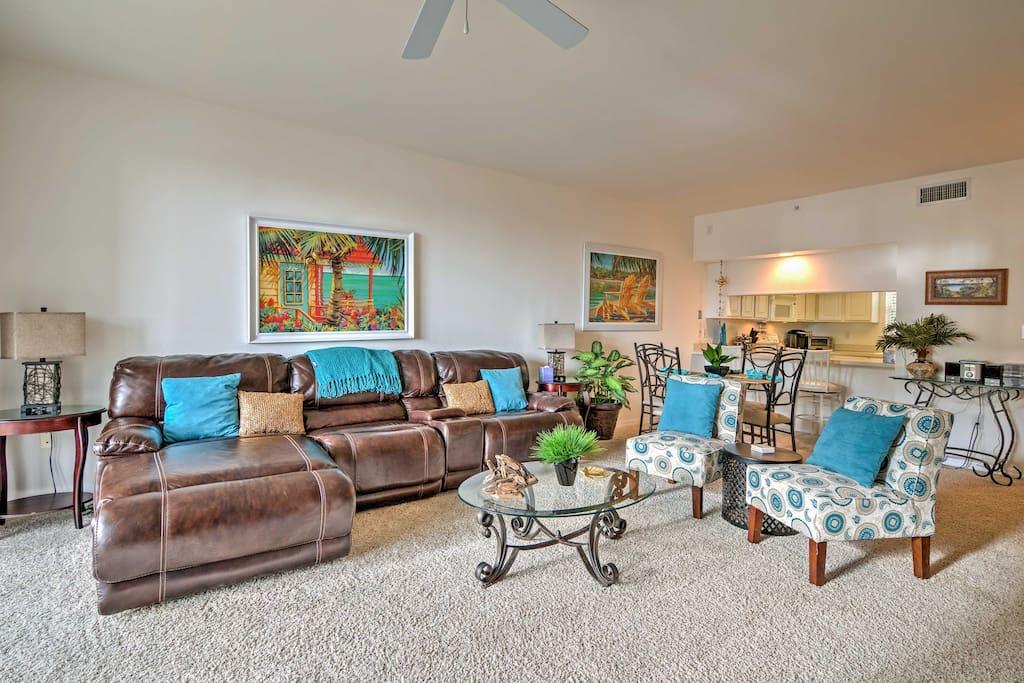 Enjoy comfortable furnishings & luxurious amenities across 1,200 square feet.