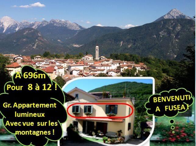 Gite lumineux pour 12 (pos.14) en montagnes! - Tolmezzo - Casa