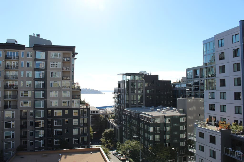 Beautiful views of the Puget Sound from the livingroom