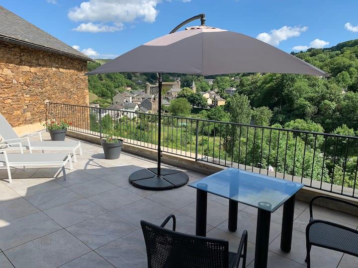 Une terrasse au soleil