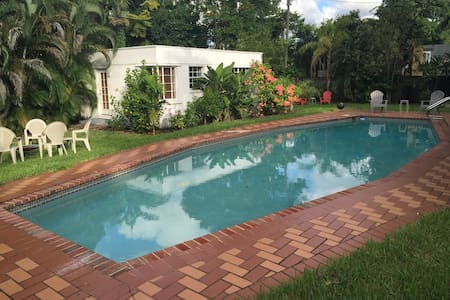 Guest cottage/pool/tropical yard - Miami Springs - Rumah