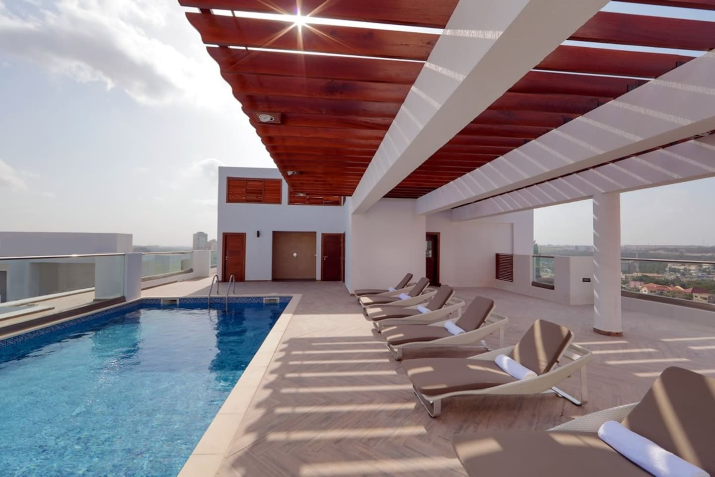 Rooftop Pool with a nice view