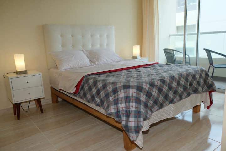 Departamento Moderno y Romantico+Room Service
