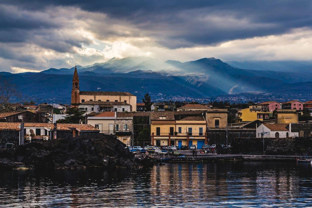 Tramonto su Pozzillo / Sunset on Pozzillo