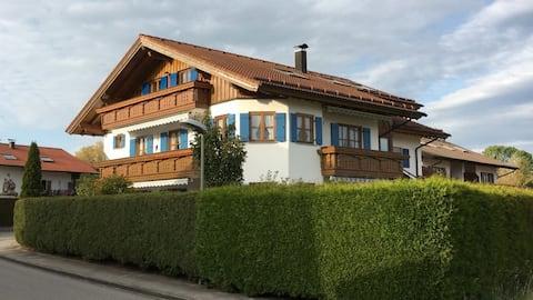 Ferienwohnung in Lechbruck am See im schönen Allgäu, nahe Füssen nur 300 m vom See