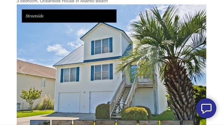 Ocean Blue Beach House! ~5min walk from the beach