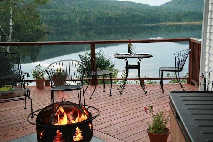 Québec,  petit coin de paradis - bord lac privé