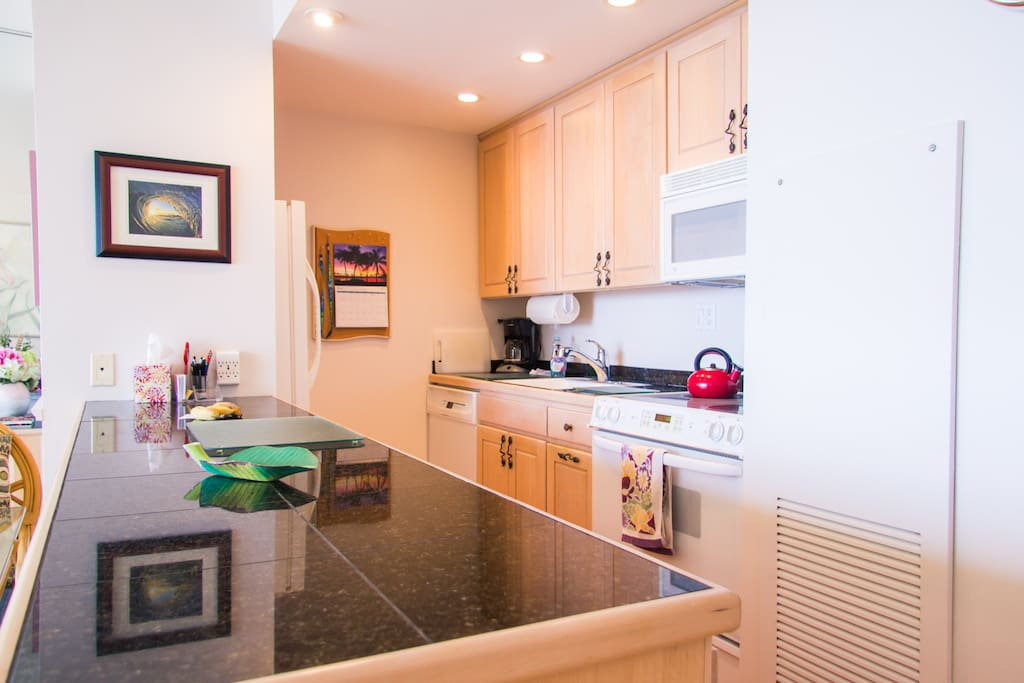 Kitchen, fully equipped, bamboo floor