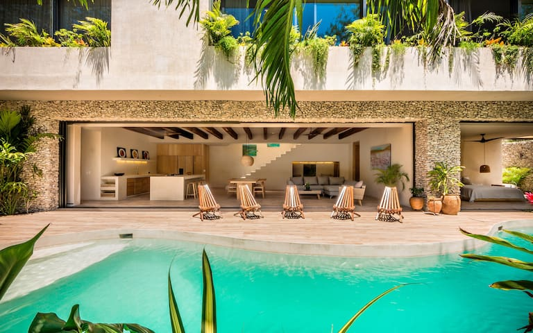 Eco-Chic Brand New Tulum Jungle Villa