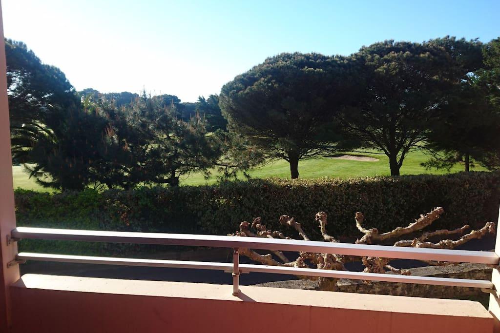 vue côté séjour sur le golf de Biarritz
