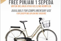 Free bike, available for complimentary use