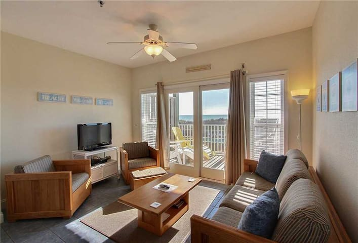 Great Ocean Views from oceanfront decks. Community pool & game room!