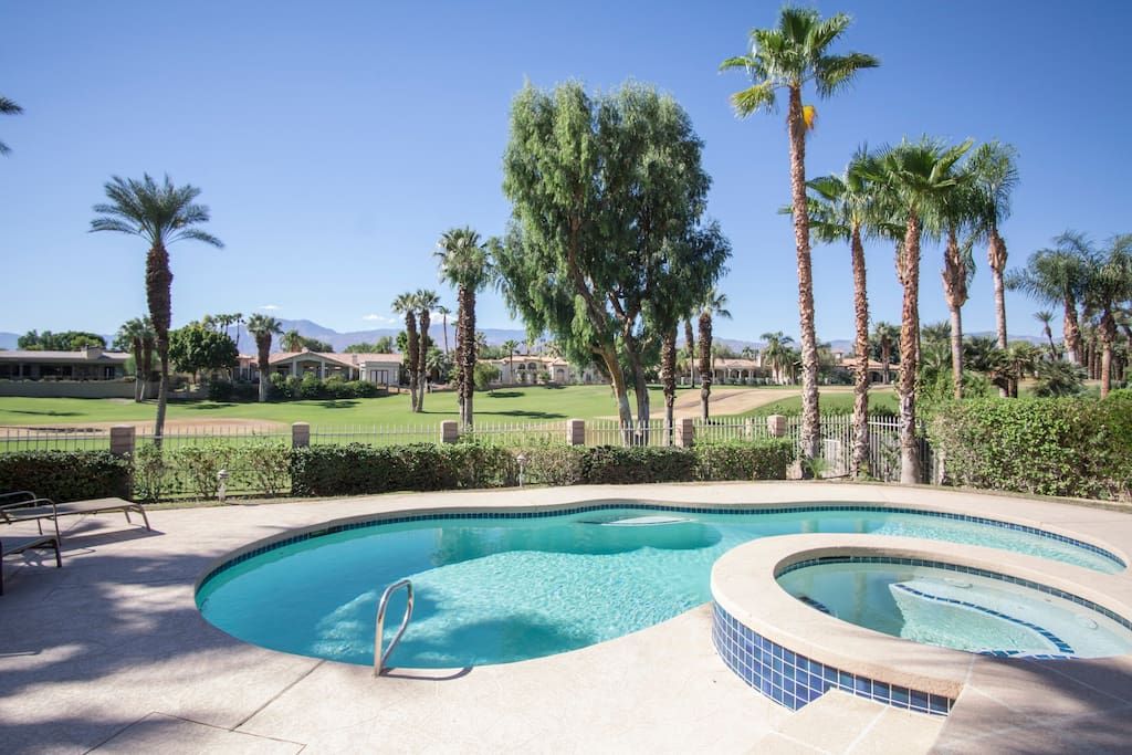 A private pool and spa is completely controllable.