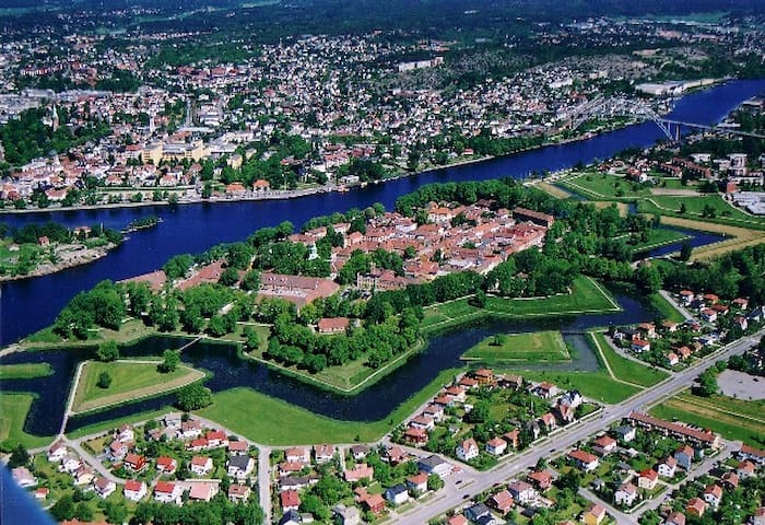 Fredrikstad fortified town. Our house is located in the bottom left corner.