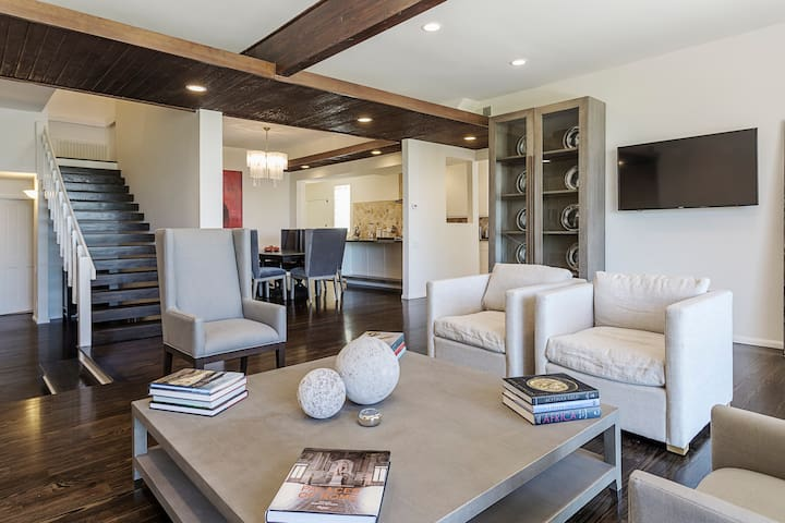 Beautifully furnished living room and entertainment spaces
